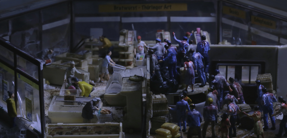 This is a still image from Cao Fei's film LA TOWN at Serpentine Gallery (11 AUG 2020).